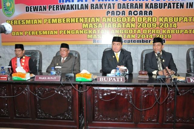 Bupati H Yopi Arianto Hadiri Pelantikan 40 Anggota DPRD Kabupaten Inhu