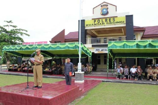 Bupati Kuansing Pimpin Kesiapan Pengamanan Pilkades Serentak 2017