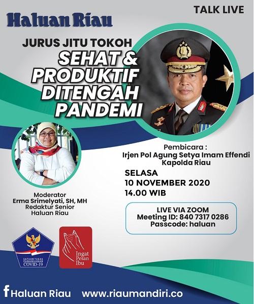 [TALK LIVE] Jurus Jitu Tokoh - Sehat & Produktif di Tengah Pandemi