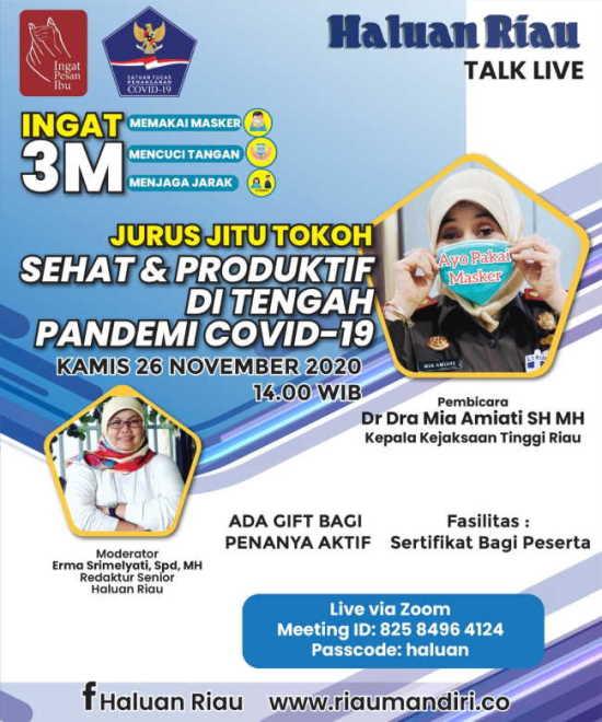 [TALK LIVE] Jurus Jitu Tokoh - Sehat & Produktif di Tengah Pandemi (Bag. II)