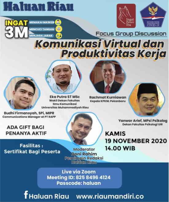 [Talk Live] Haluan Riau - Komunikasi Virtual dan Produktivitas Kerja